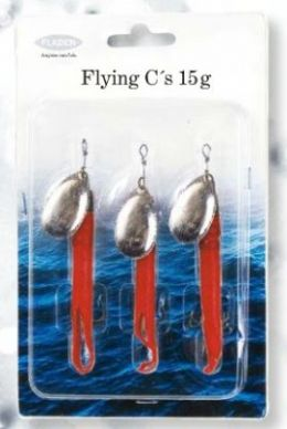 3 Fladen Flying C Red Spinners || Flash Fishing Tackle